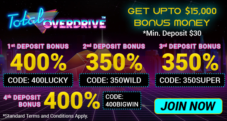 Bonus Packages, total overdrive slot game